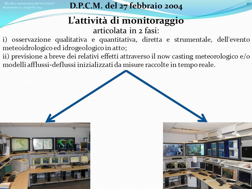 L'attività di monitoraggio