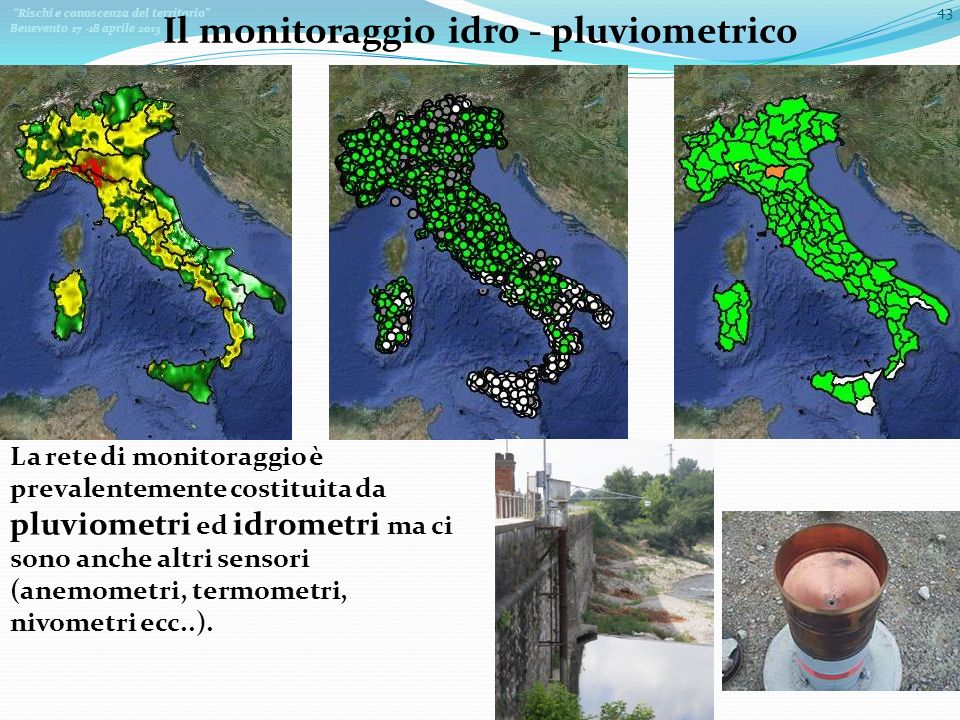 Il monitoraggio idro - pluviometrico