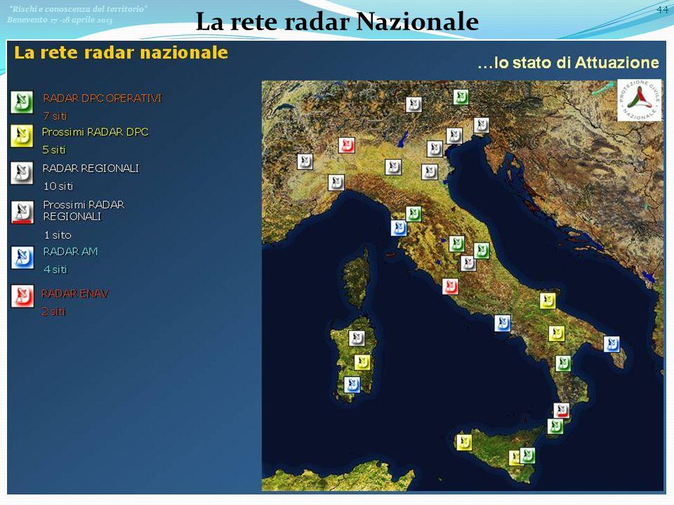 La rete radar Nazionale