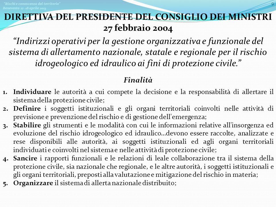 DIRETTIVA DEL PRESIDENTE DEL CONSIGLIO DEI MINISTRI 27 febbraio 2004