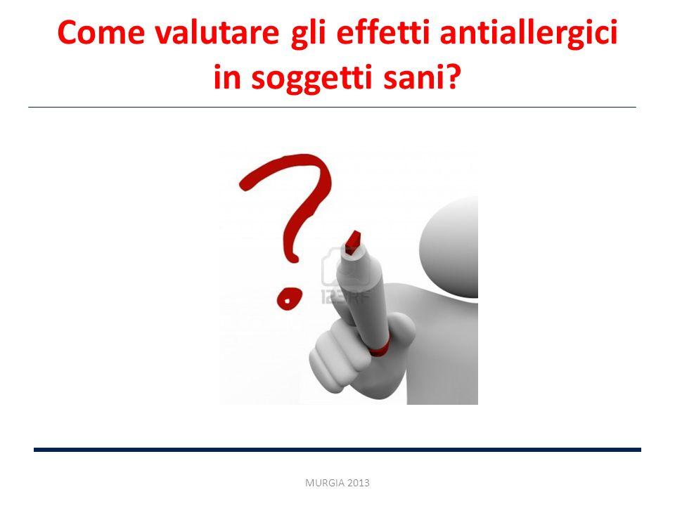 Come valutare gli effetti antiallergici in soggetti sani