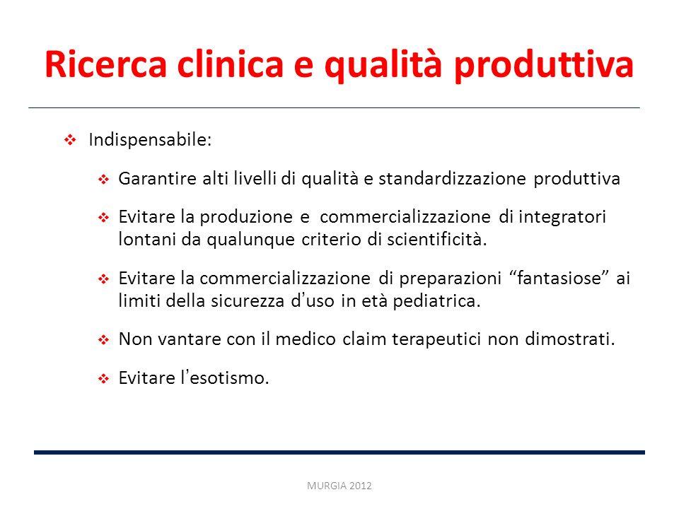 Ricerca clinica e qualità produttiva