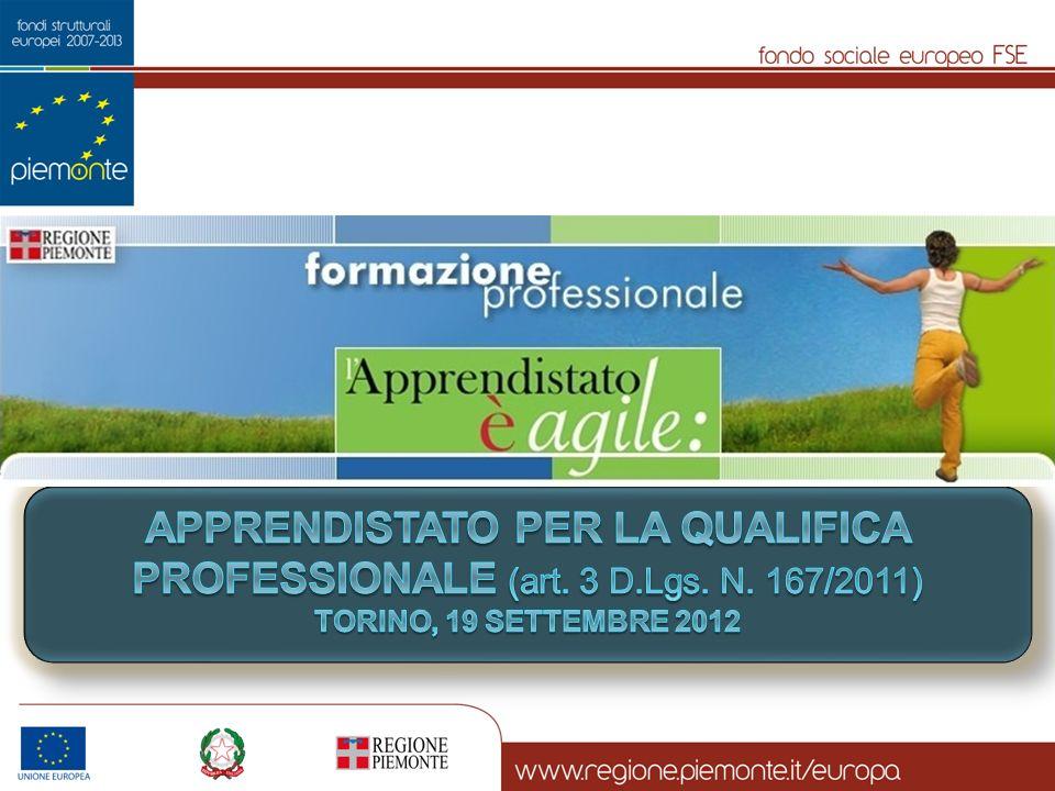 apprendistato PER LA QUALIFICA PROFESSIONALE (art. 3 D. Lgs. N