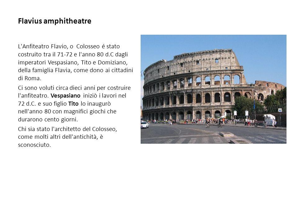 Flavius amphitheatre