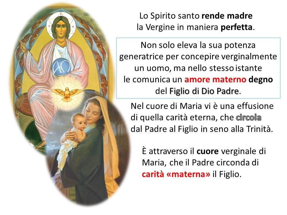 Lo Spirito santo rende madre la Vergine in maniera perfetta.