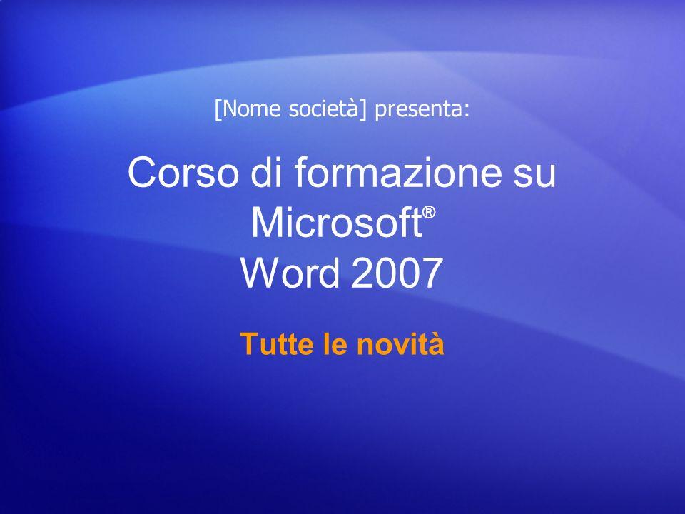 Corso di formazione su Microsoft® Word 2007