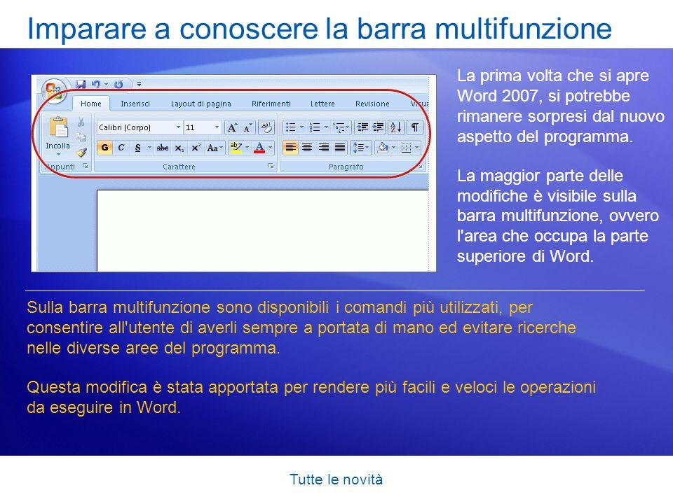 Imparare a conoscere la barra multifunzione