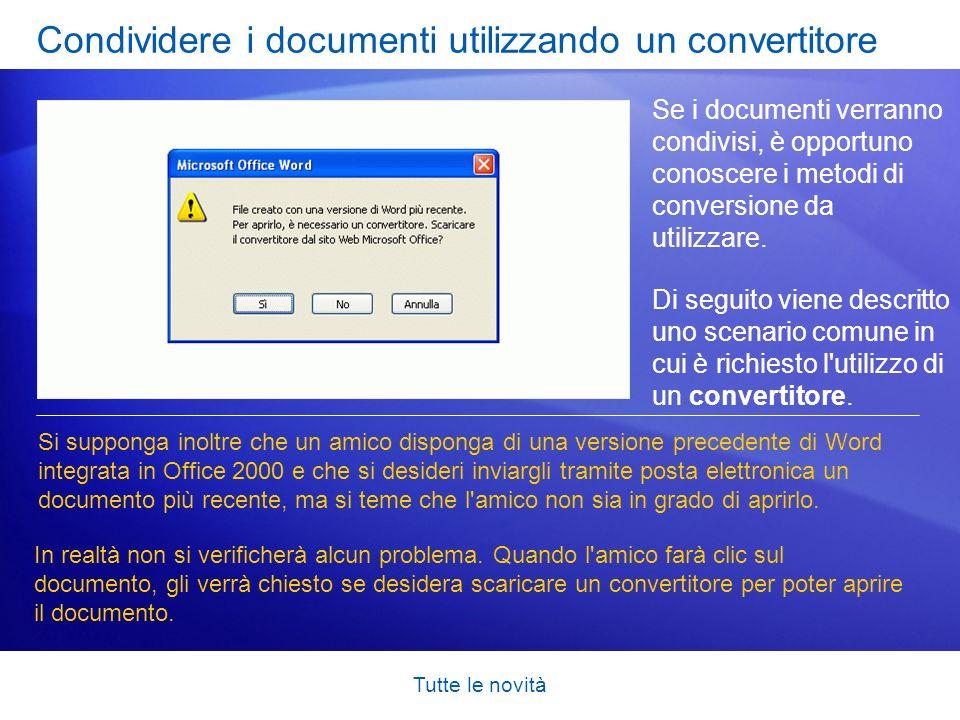 Condividere i documenti utilizzando un convertitore