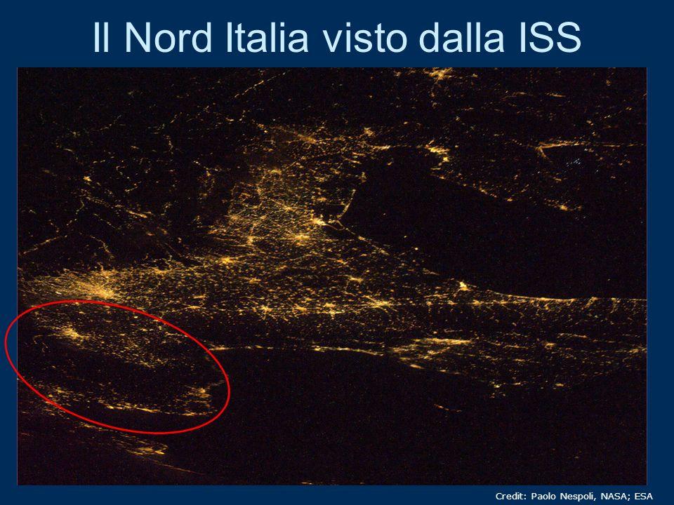 Il Nord Italia visto dalla ISS