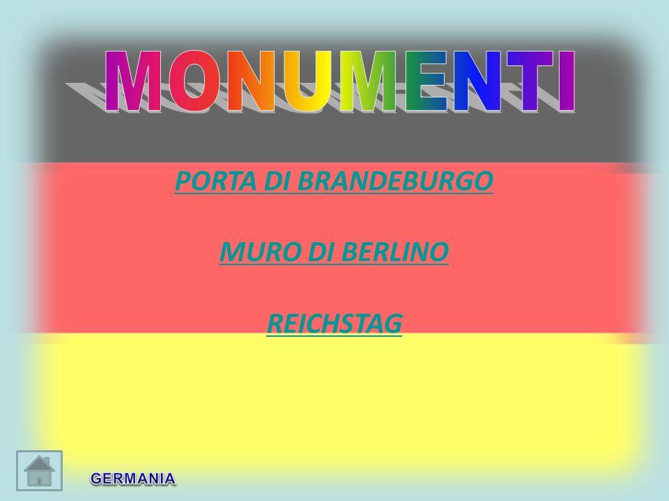 PORTA DI BRANDEBURGO MURO DI BERLINO REICHSTAG