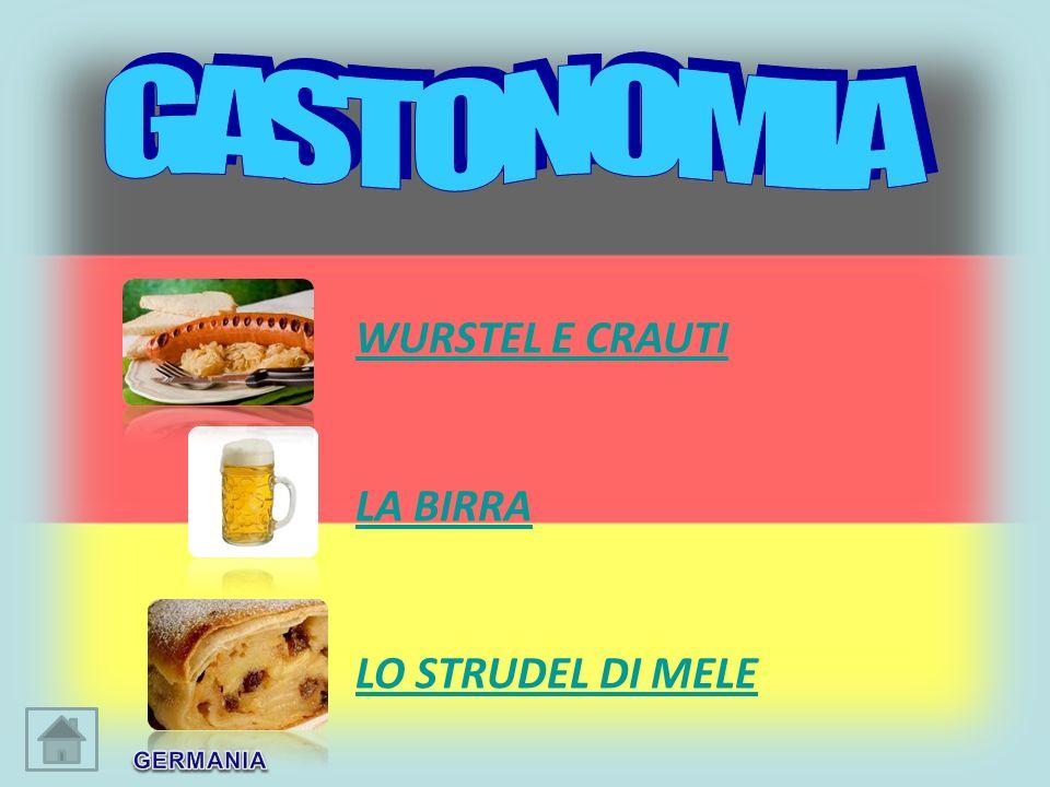 GASTONOMIA WURSTEL E CRAUTI LA BIRRA LO STRUDEL DI MELE GERMANIA