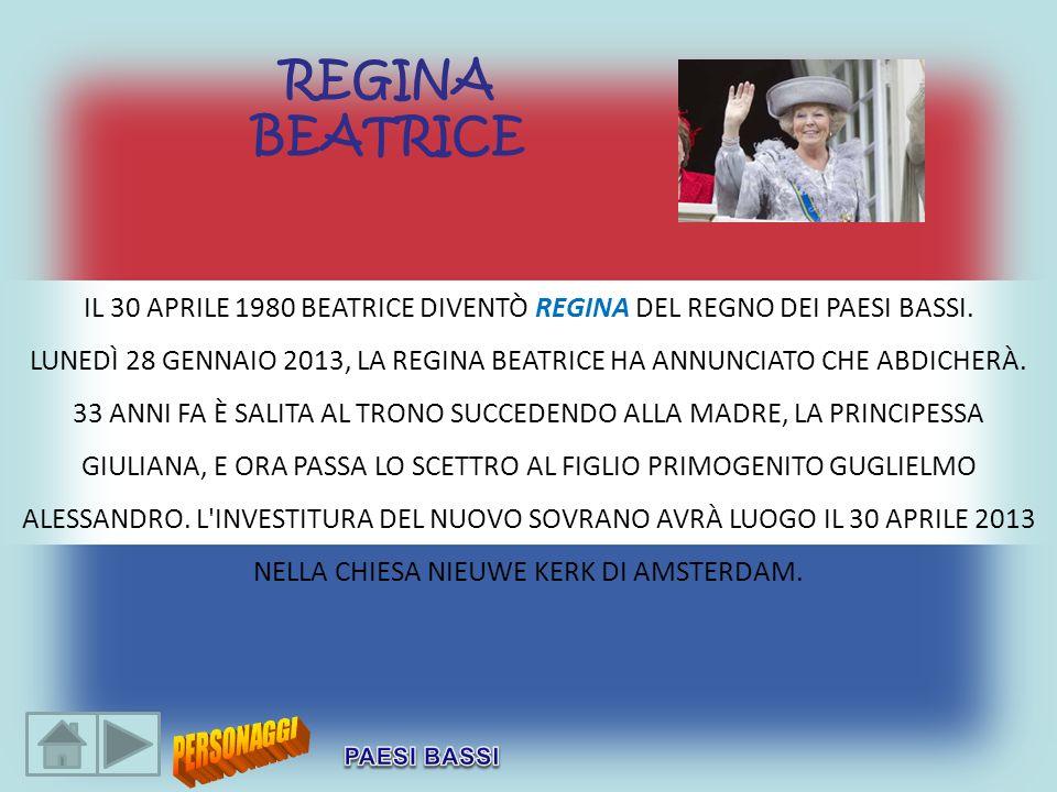 IL 30 APRILE 1980 BEATRICE DIVENTÒ REGINA DEL REGNO DEI PAESI BASSI.
