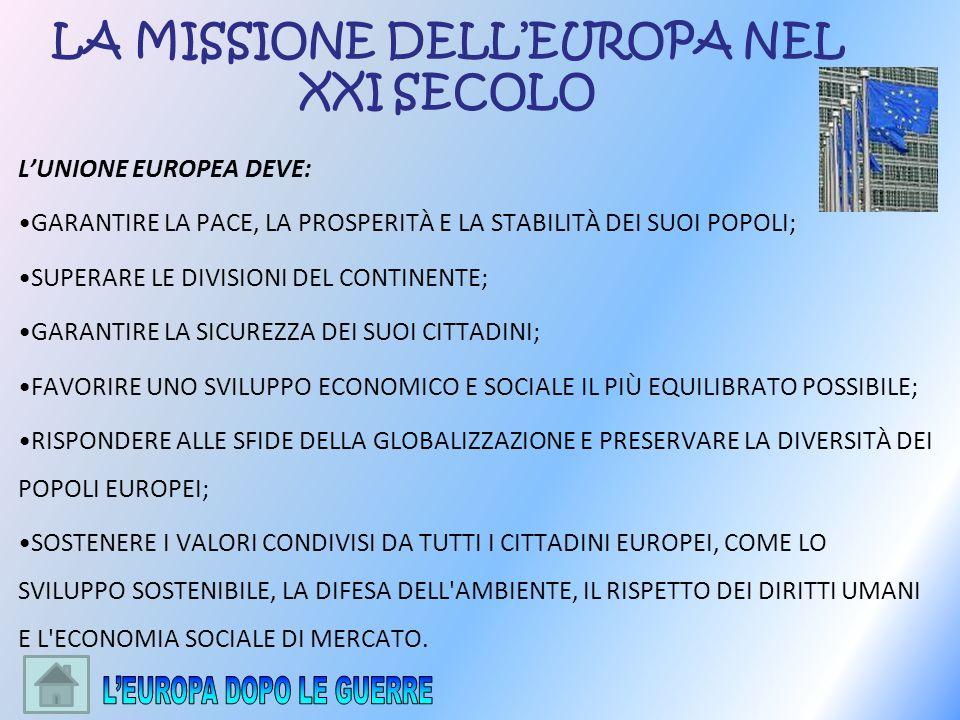 LA MISSIONE DELL'EUROPA NEL XXI SECOLO
