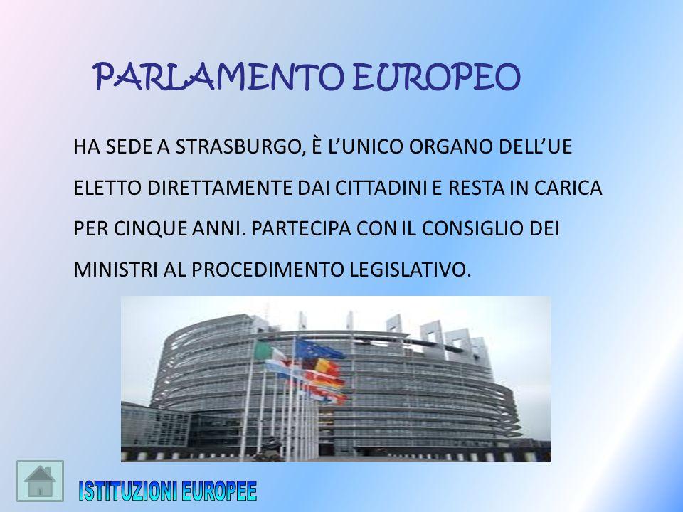 ISTITUZIONI EUROPEE PARLAMENTO EUROPEO