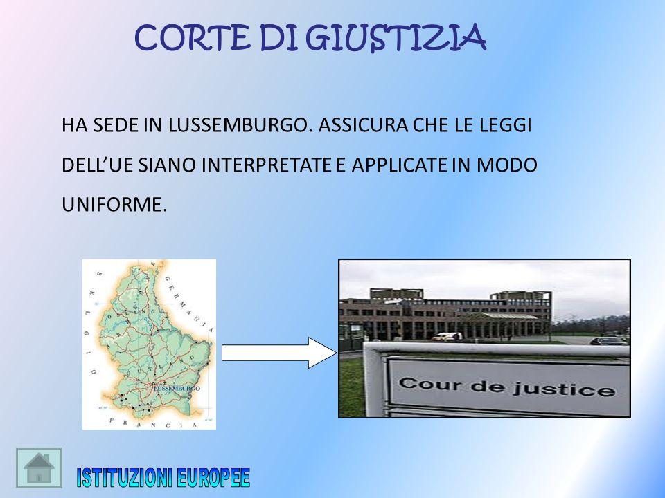 ISTITUZIONI EUROPEE CORTE DI GIUSTIZIA