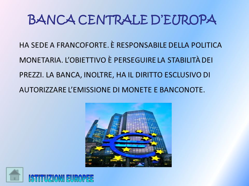 BANCA CENTRALE D'EUROPA