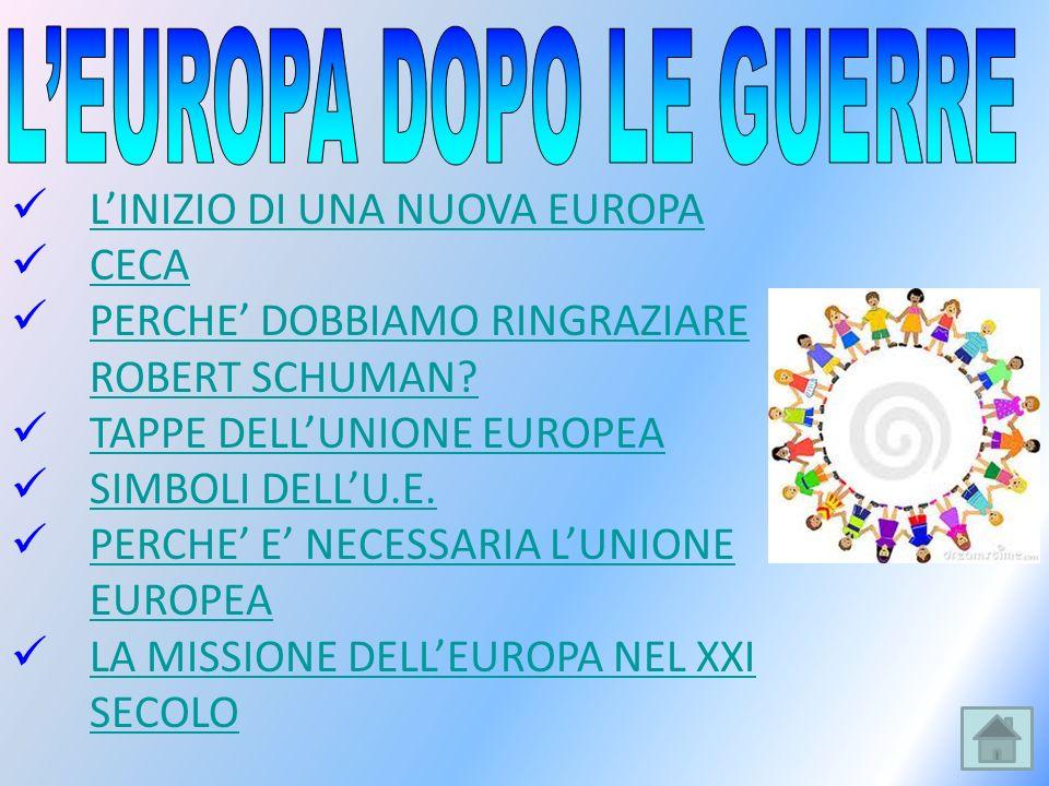 L'EUROPA DOPO LE GUERRE