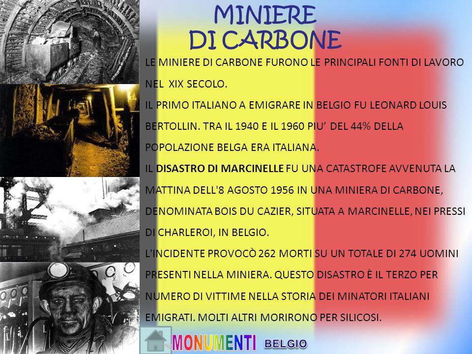 MINIERE DI CARBONE. LE MINIERE DI CARBONE FURONO LE PRINCIPALI FONTI DI LAVORO NEL XIX SECOLO.