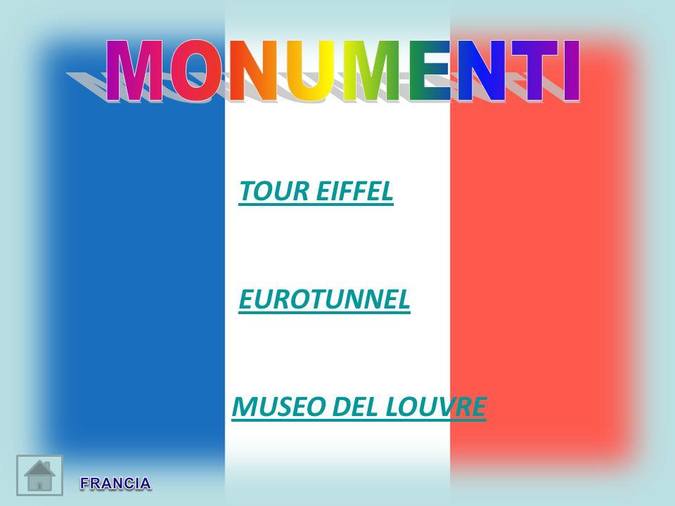 MONUMENTI TOUR EIFFEL EUROTUNNEL MUSEO DEL LOUVRE FRANCIA