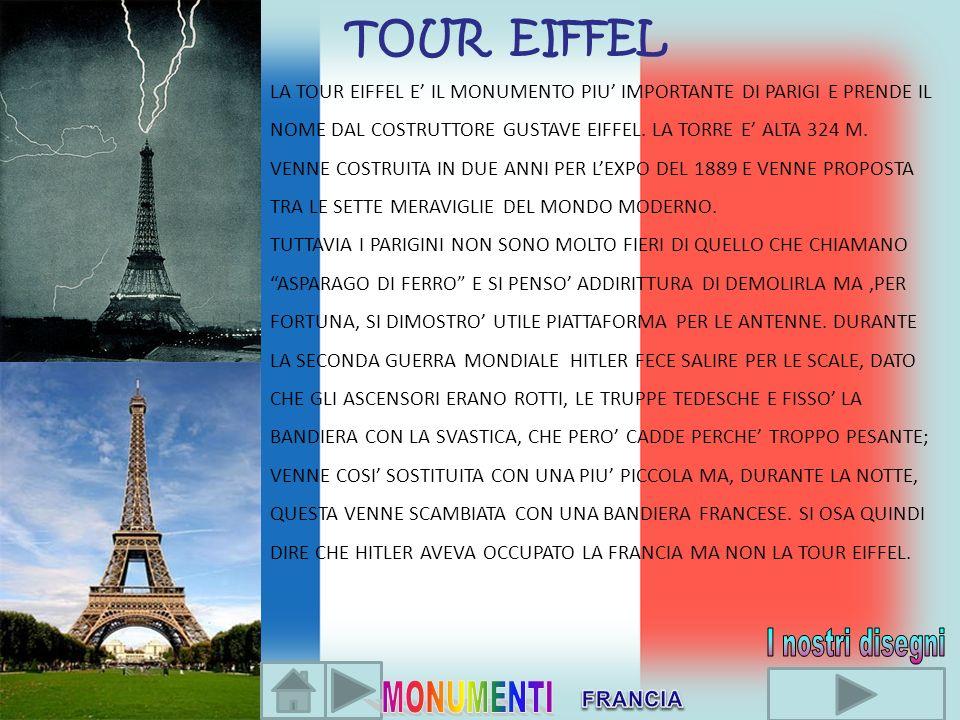 I nostri disegni TOUR EIFFEL MONUMENTI