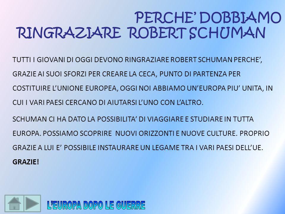 RINGRAZIARE ROBERT SCHUMAN