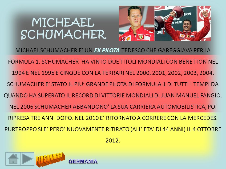 MICHEAEL SCHUMACHER.