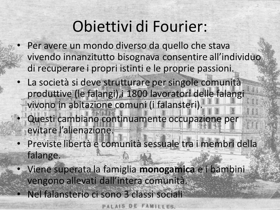 Obiettivi di Fourier: