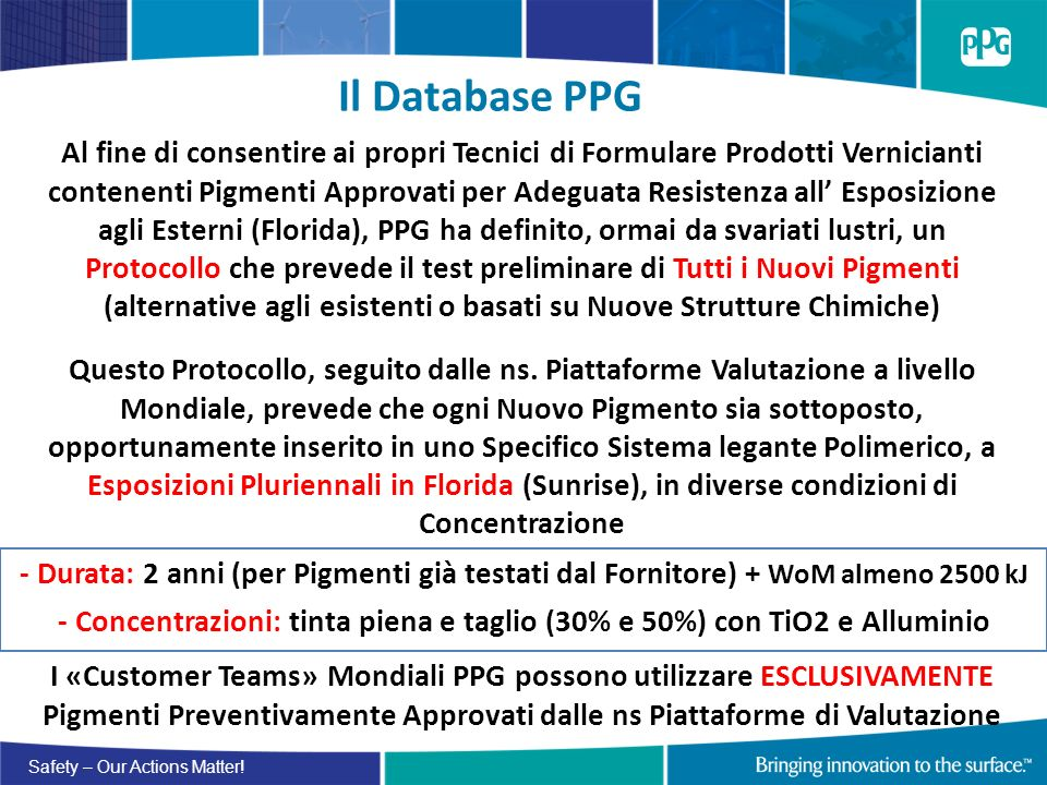 Il Database PPG