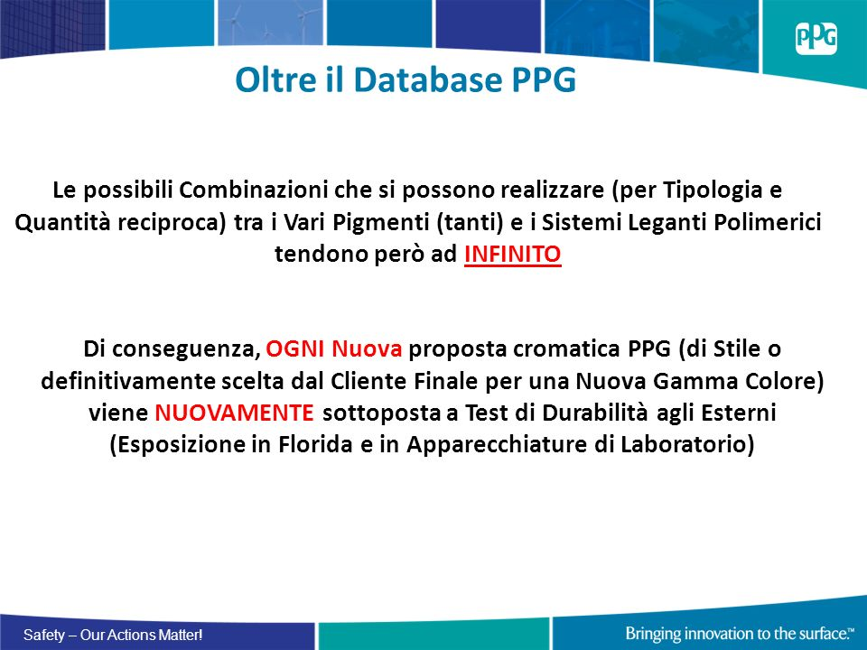 Oltre il Database PPG