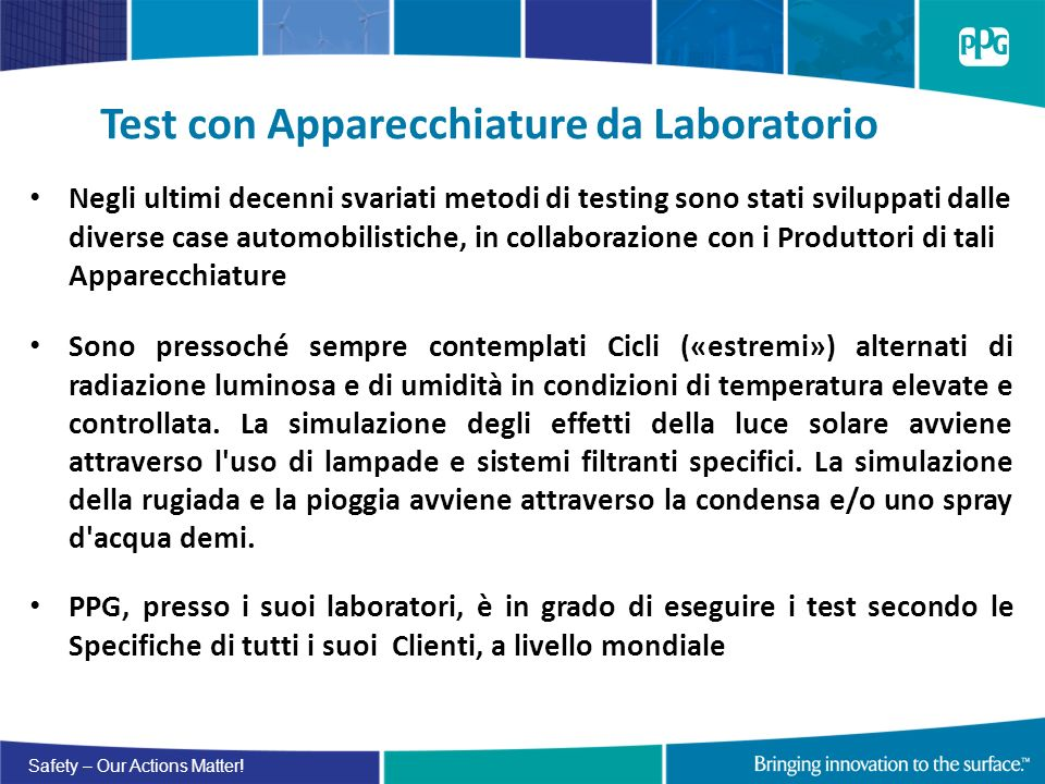Test con Apparecchiature da Laboratorio