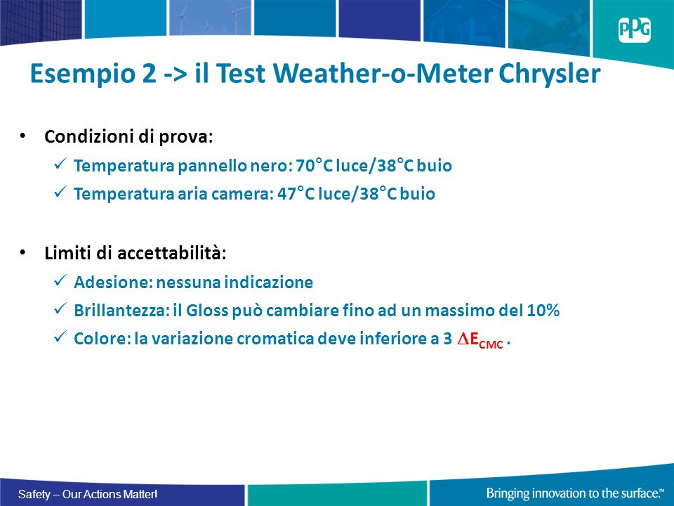 Esempio 2 -> il Test Weather-o-Meter Chrysler