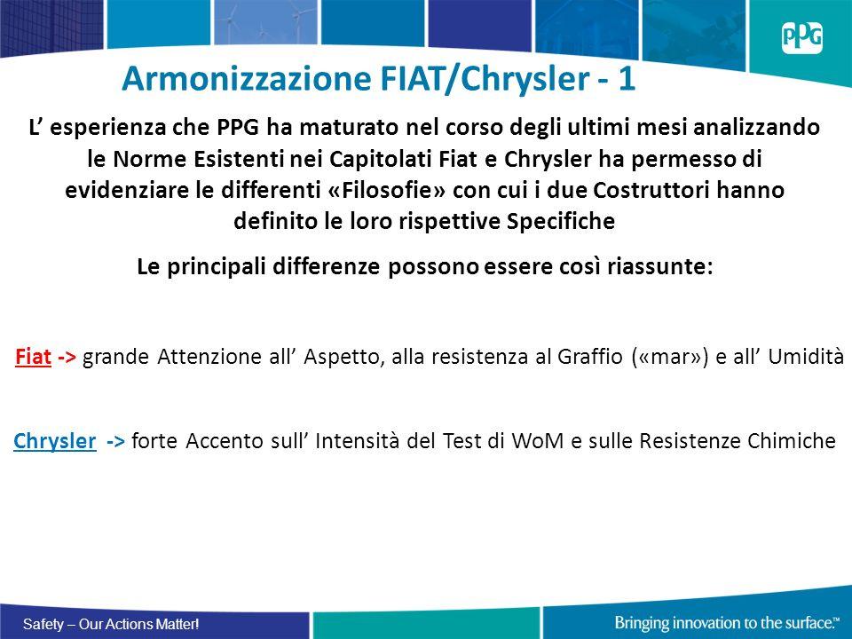 Armonizzazione FIAT/Chrysler - 1