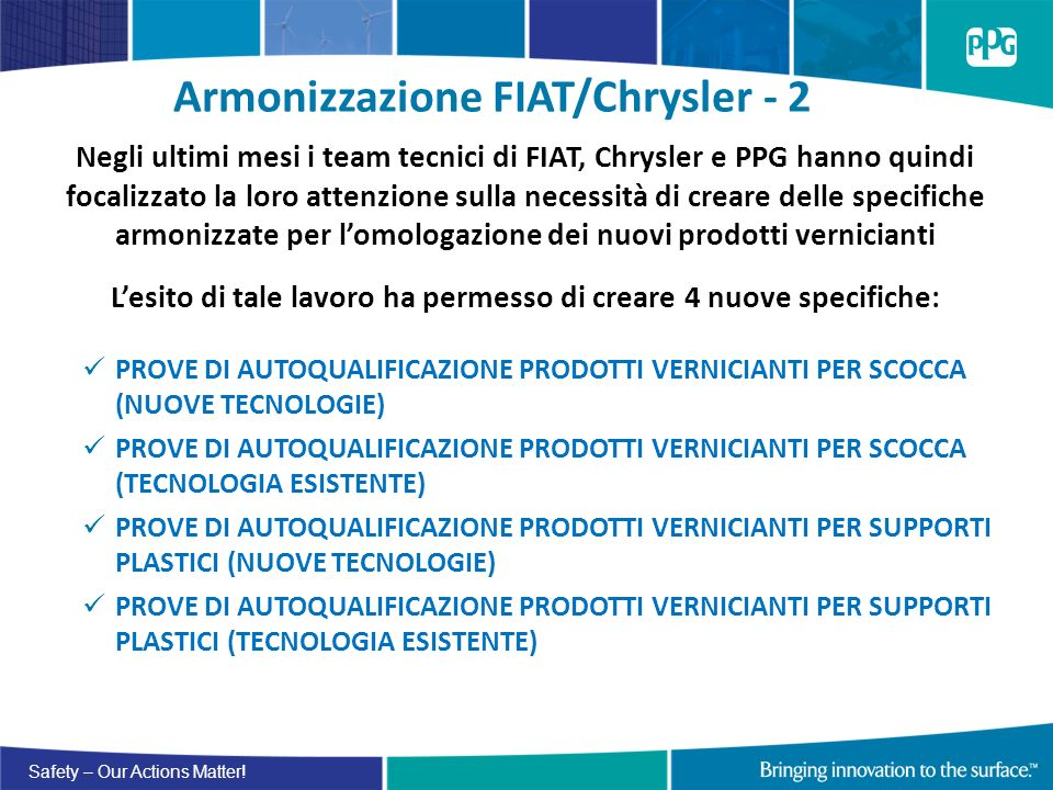 Armonizzazione FIAT/Chrysler - 2