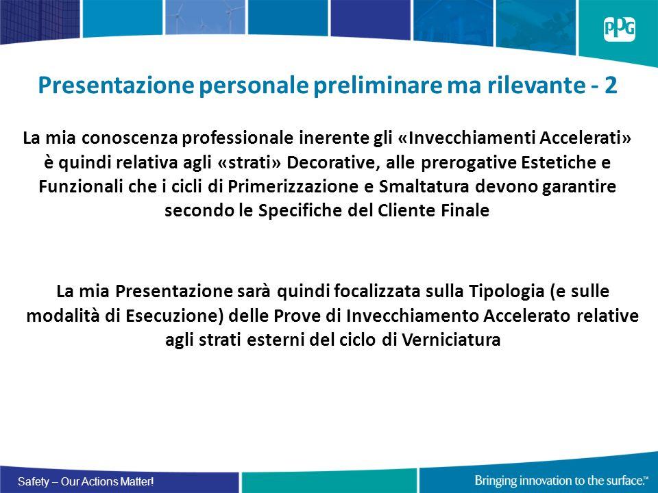 Presentazione personale preliminare ma rilevante - 2