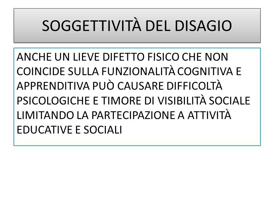SOGGETTIVITÀ DEL DISAGIO