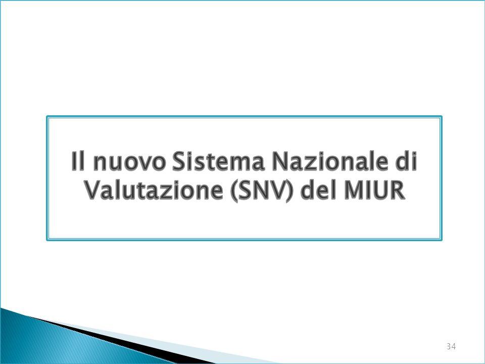 Il nuovo Sistema Nazionale di Valutazione (SNV) del MIUR
