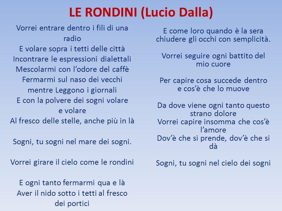 LE RONDINI (Lucio Dalla)