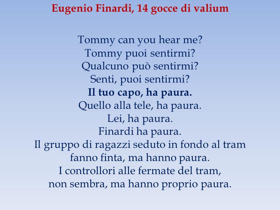 Eugenio Finardi, 14 gocce di valium