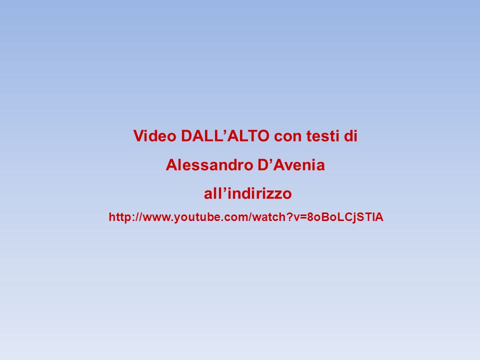 Video DALL'ALTO con testi di