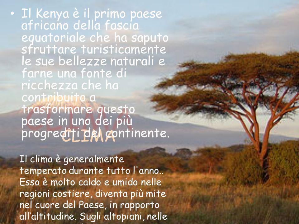 Il Kenya è il primo paese africano della fascia equatoriale che ha saputo sfruttare turisticamente le sue bellezze naturali e farne una fonte di ricchezza che ha contribuito a trasformare questo paese in uno dei più progrediti del continente.