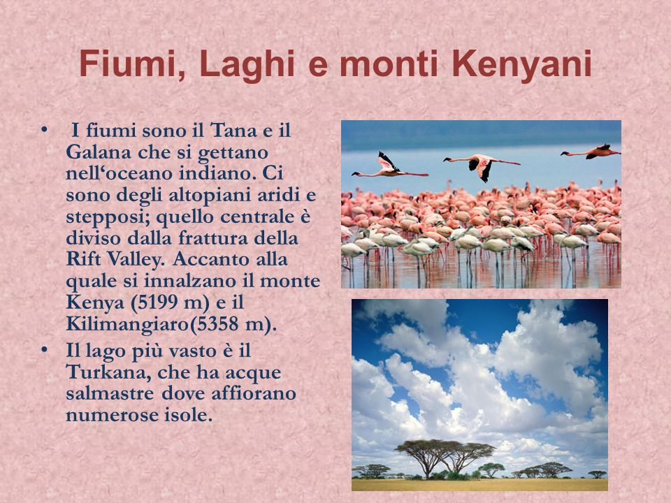 Fiumi, Laghi e monti Kenyani