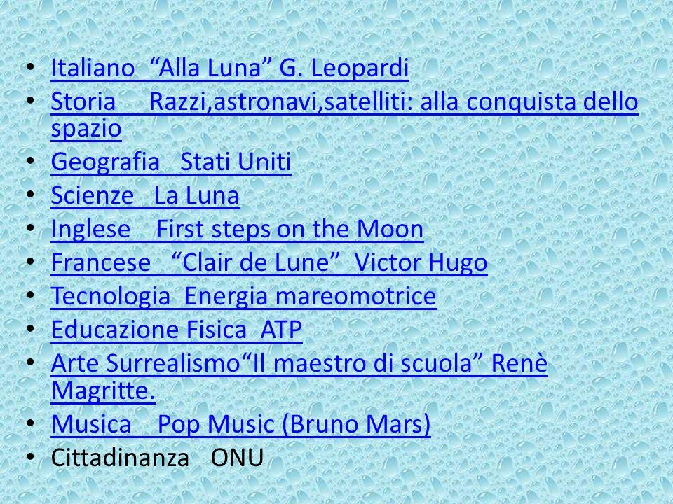 Italiano Alla Luna G. Leopardi