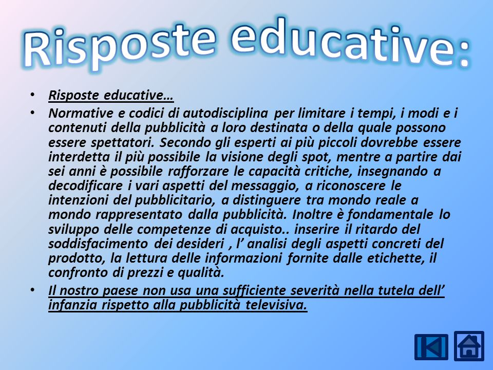 Risposte educative: Risposte educative…