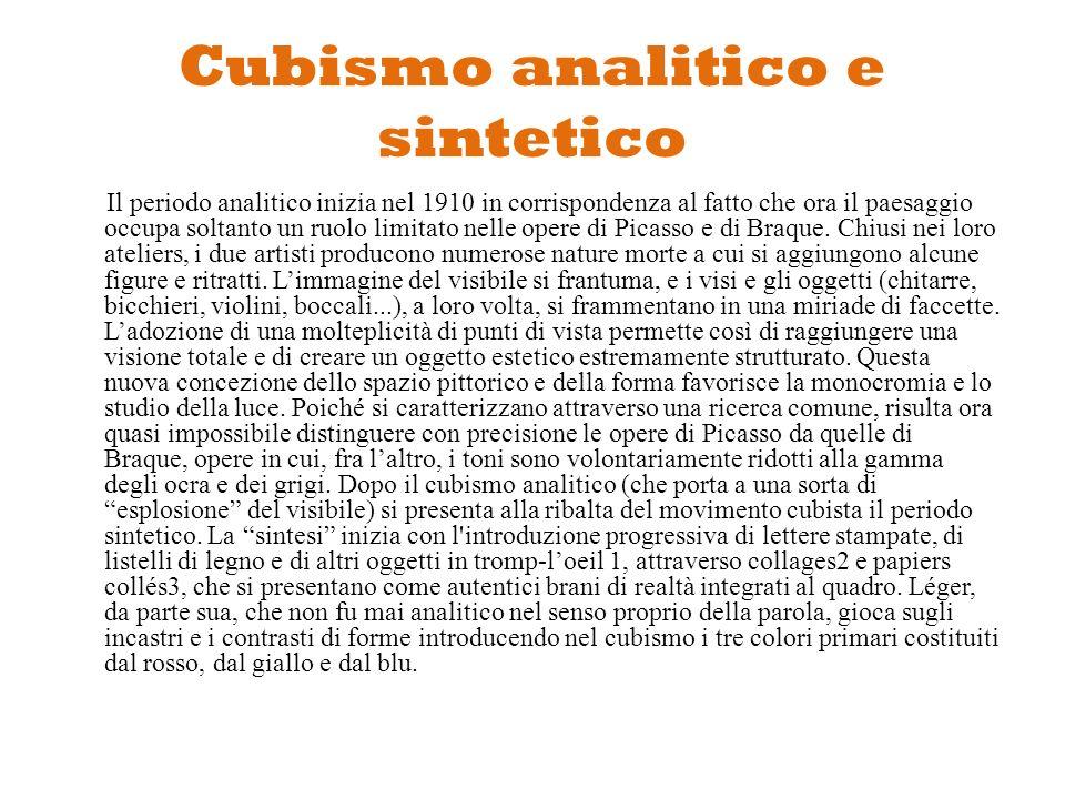 Cubismo analitico e sintetico