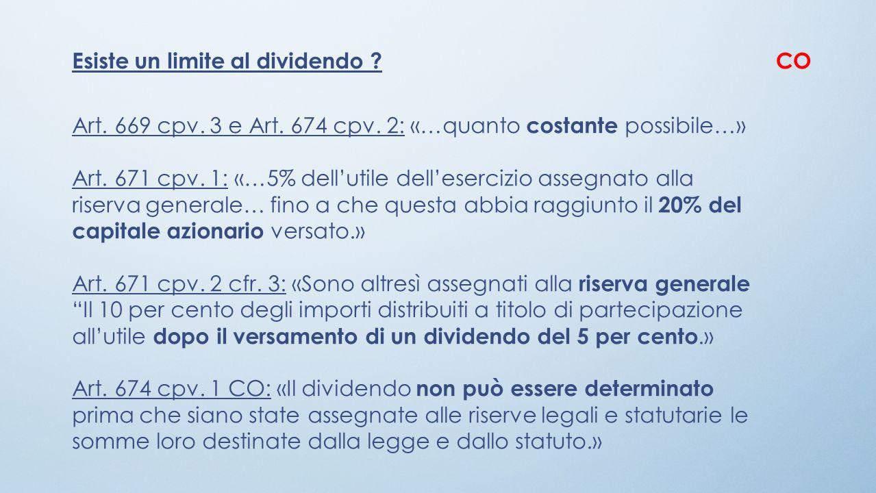 Esiste un limite al dividendo