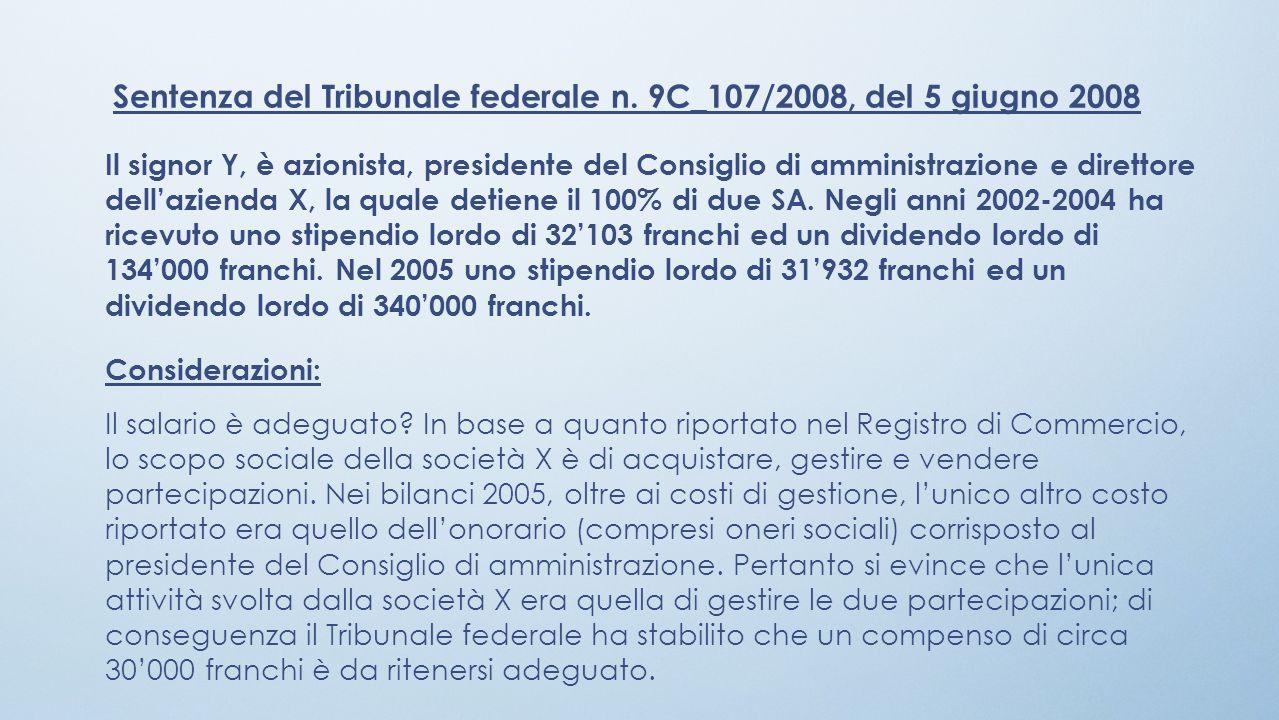 Sentenza del Tribunale federale n. 9C_107/2008, del 5 giugno 2008