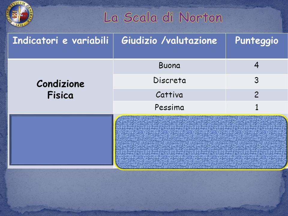 Indicatori e variabili Giudizio /valutazione
