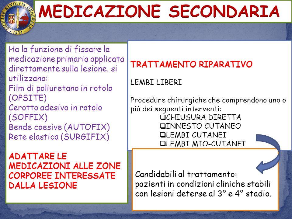 MEDICAZIONE SECONDARIA