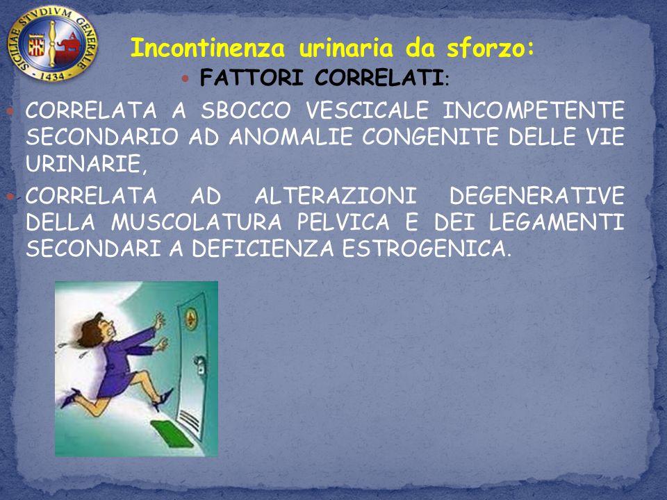 Incontinenza urinaria da sforzo: