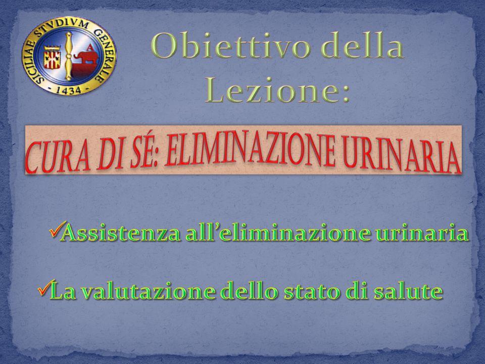 Obiettivo della Lezione: Assistenza all'eliminazione urinaria